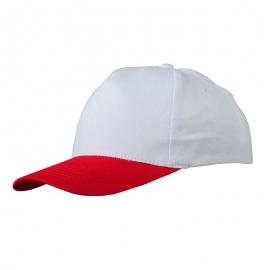 Czapka z daszkiem Coimbra, biały/czerwony