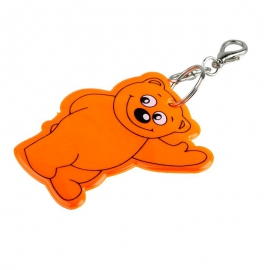 Brelok odblaskowy Beary, pomarańczowy