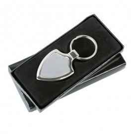 Metalowy brelok Emblem, srebrny