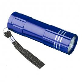 9-diodowa latarka Jewel LED, niebieski