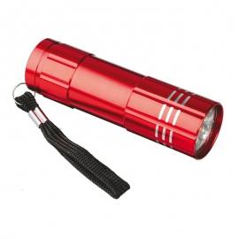 9-diodowa latarka Jewel LED, czerwony