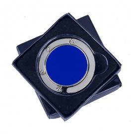 Wieszak na torebkę Glamour, niebieski