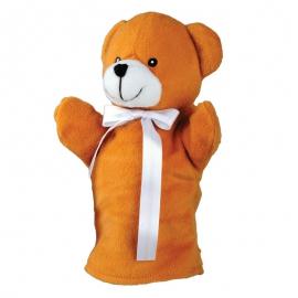 Pacynka Teddy Bear, brązowy/biały