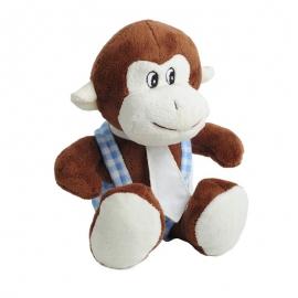 Maskotka Monkey, brązowy/niebieski