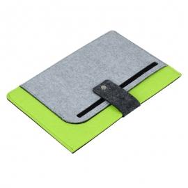 Teczka na tablet Eco-Sense, zielony/szary