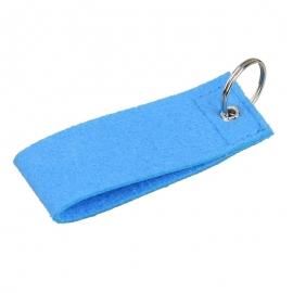 Filcowy brelok na klucze Eco-Sense, niebieski