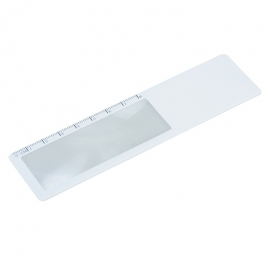 Zakładka z lupą i linijką 8 cm, biały
