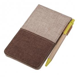 Notes 80x135/50k linia z długopisem Vigo, brązowy