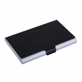 Wizytownik Color Lid, czarny/srebrny