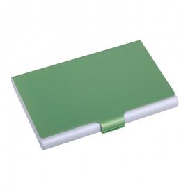 Wizytownik Color Lid, zielony/srebrny
