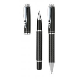 Zestaw do pisania, CARBON, czarny/srebrny