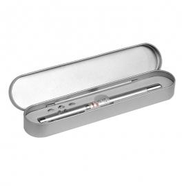 Długopis 4-funkcyjny Pointer ze wskaźnikiem laserowym, srebrny