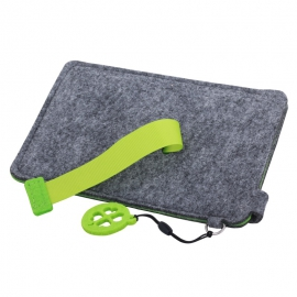 Etui na dużego smartfona Eco-Sense, zielony/szary