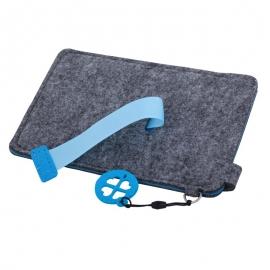 Etui na dużego smartfona Eco-Sense, niebieski/szary