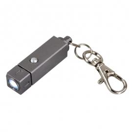 Brelok latarka Muscle LED, grafitowy
