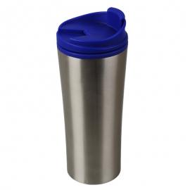 Kubek izotermiczny Tampere 450 ml, niebieski/srebrny