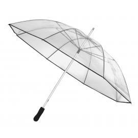 Aluminiowy parasol, OBSERVER, transparentny/czarny