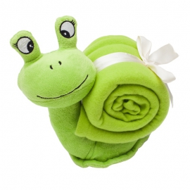 Maskotka Snail, zielony
