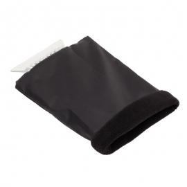 Skrobaczka do szyb z rękawicą, czarny
