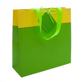 Torba na prezenty, zielony/żółty