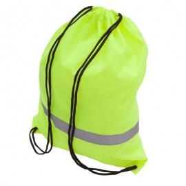 Plecak promocyjny z taśmą odblaskową, żółty
