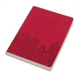 Notes 140x210/96k kratka Urbeto, czerwony