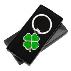 Brelok Clover Luck, zielony/srebrny
