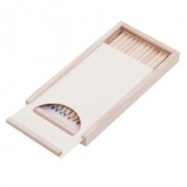 Zestaw kredek Slide On w pudełku z kolorowankami, brązowy
