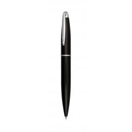 Długopis metlowy, ROCK, czarny/srebrny