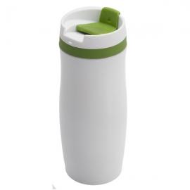 Kubek izotermiczny Viki 390 ml, zielony/biały