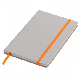 Notatnik 130x210/80k kratka Cartagena, pomarańczowy/szary