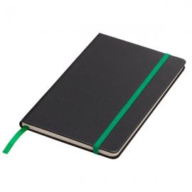 Notatnik 130x210/80k kratka Sevilla, zielony/czarny