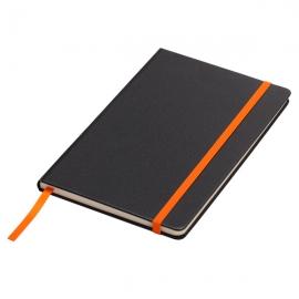 Notatnik 130x210/80k kratka Sevilla, pomarańczowy/czarny