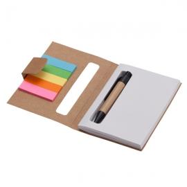 Notes 80x110/100k gładki Eco z długopisem, beżowy