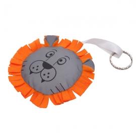 Maskotka odblaskowa Lion, pomarańczowy/srebrny