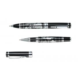Zestaw do pisania, INTERCONTINENTAL, srebrny/czarny