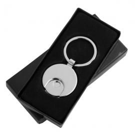 Metalowy brelok z żetonem Shopping Spree, czarny