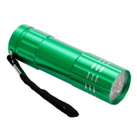 9-diodowa latarka Jewel LED, jasnozielony