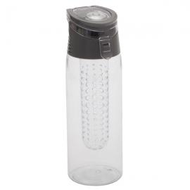 Bidon Frutello 700 ml, szary/transparentny