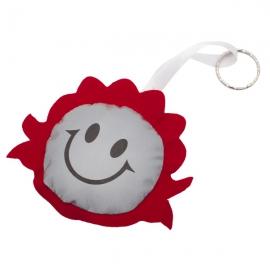 Maskotka odblaskowa Smiling Girl, czerwony/srebrny