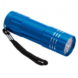 9-diodowa latarka Jewel LED, lazurowy