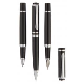 Zestaw do pisania, TRIO, czarny/srebrny