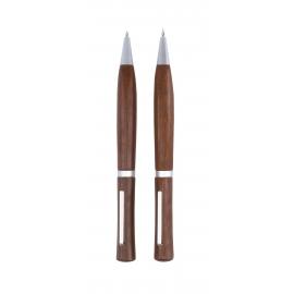 Zestaw do pisania, PRECIOUS, czarny/brązowy