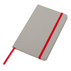 Notatnik 130x210/80k kratka Cartagena, czerwony/szary