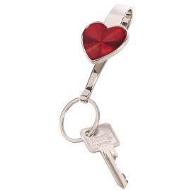 Zawieszka do kluczy, WITH LOVE, czerwony/srebrny