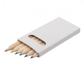 Zestaw kredek 9 cm, biały