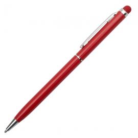 Długopis aluminiowy Touch Tip, ciemnoczerwony