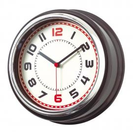 Zegar ścienny, COUNTRY, srebrny/czarny