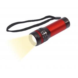 Latarka LED, ZOOM, czerwony