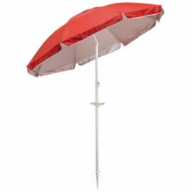 Parasol plażowy BEACHCLUB, czerowny.